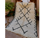 Load image into Gallery viewer, Home Decor Monochrome Symbols Moroccan Rug