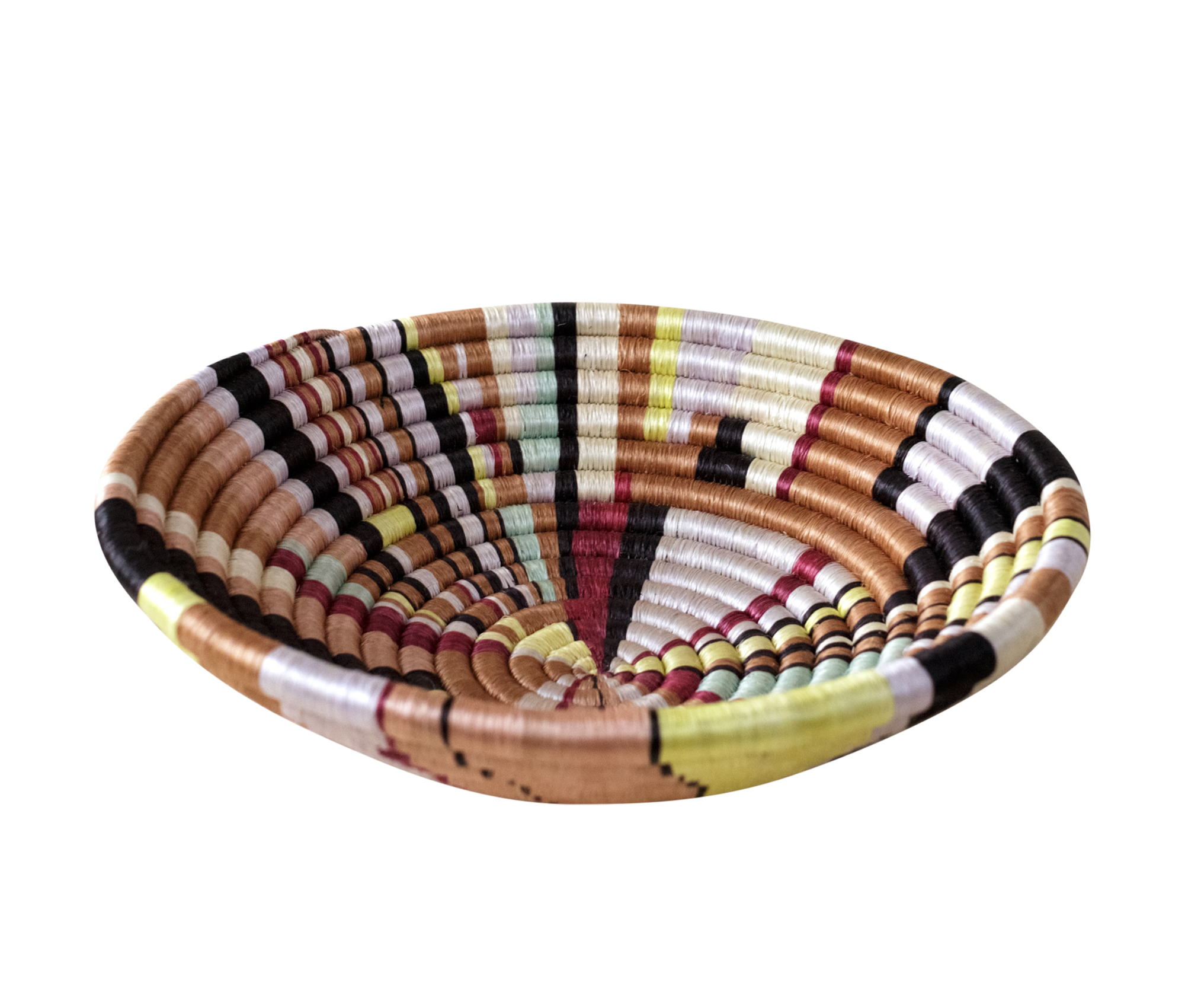 Home Decor Multicolor Woven Bowl