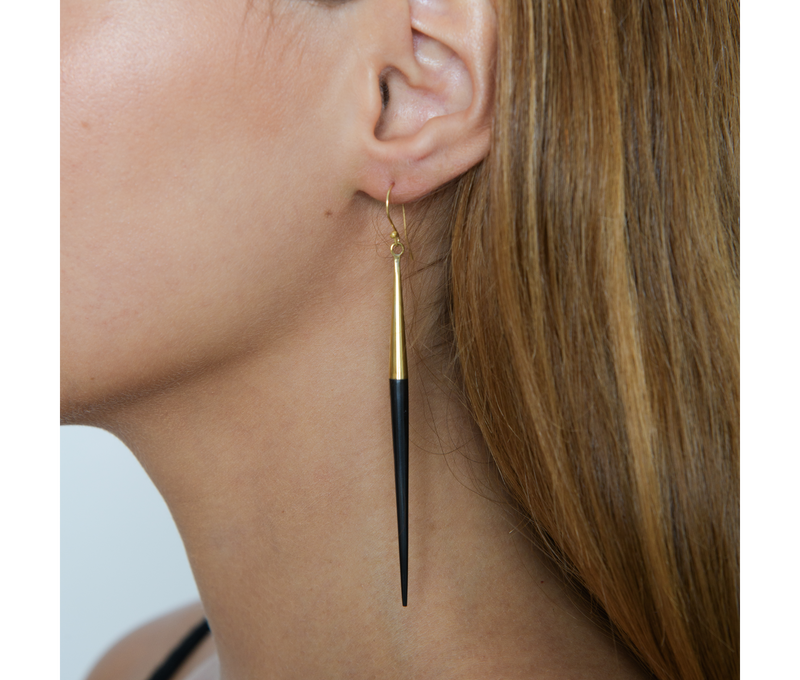Jewelry Black Quill Dangle Earring