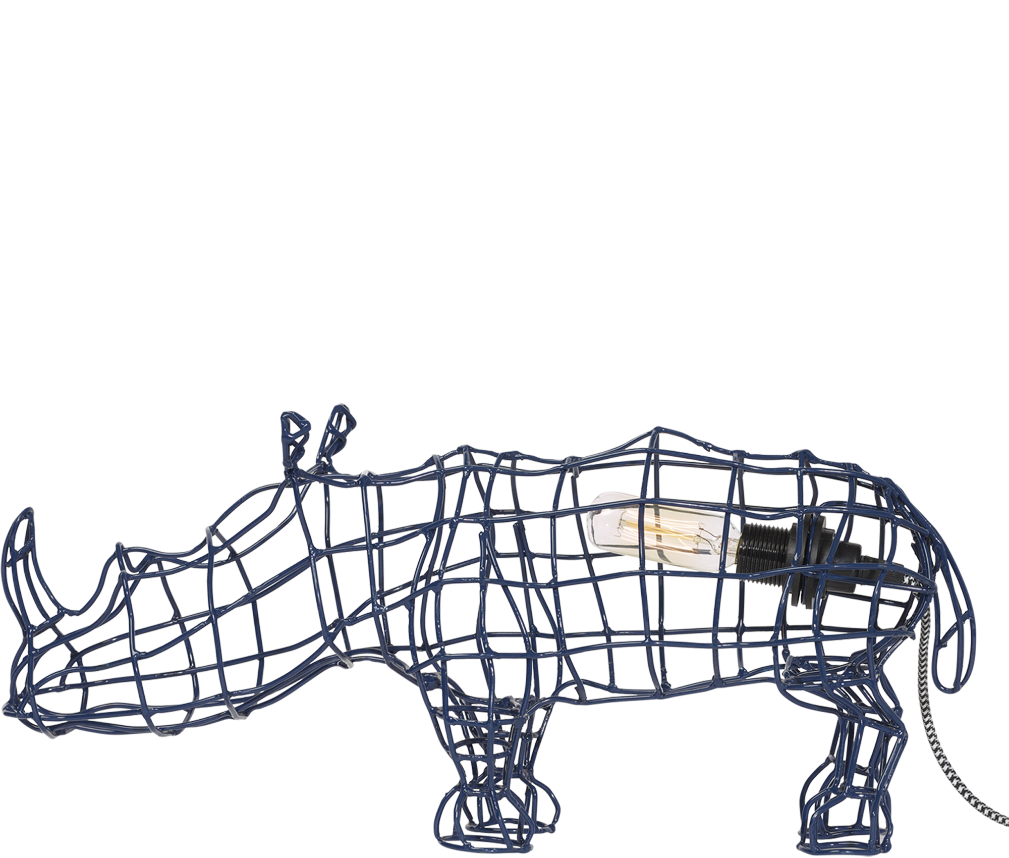 Home Decor Blue Rhino Wire Lamp