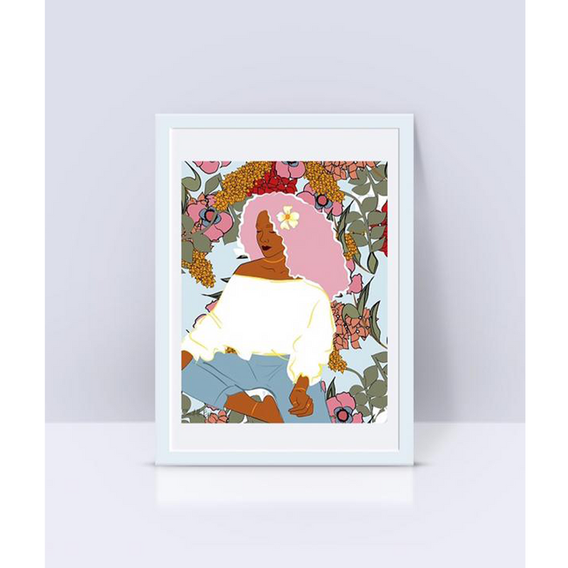 Home Decor Sitting Woman Art Print