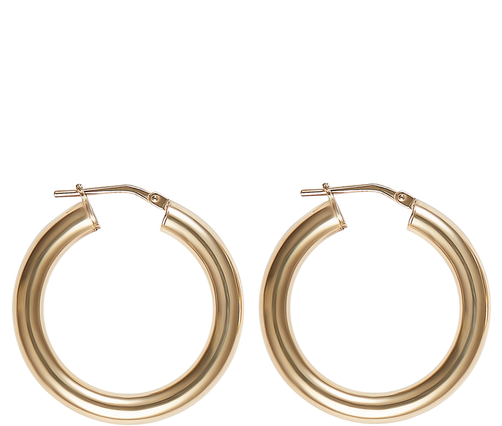 Jewelry Gold Small Hollow Hoops
