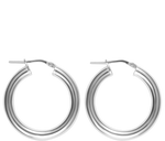 Load image into Gallery viewer, Jewelry Silver Small Hollow Hoops
