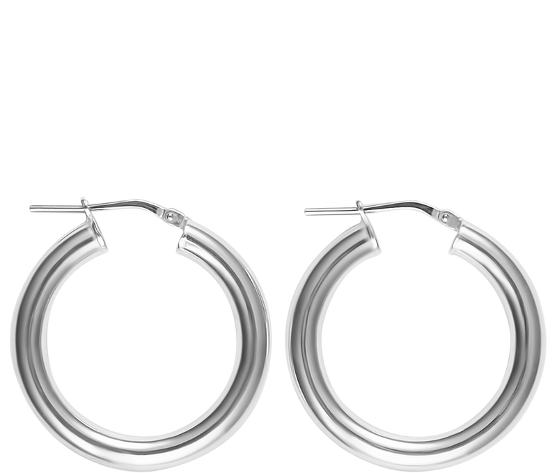 Jewelry Silver Small Hollow Hoops
