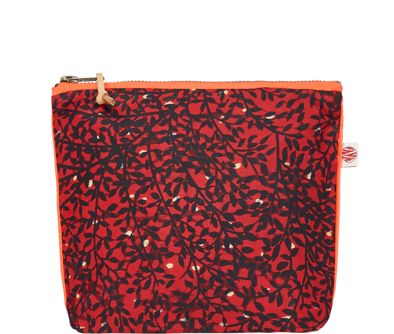 Accessories Red Small Kitenge Pouch