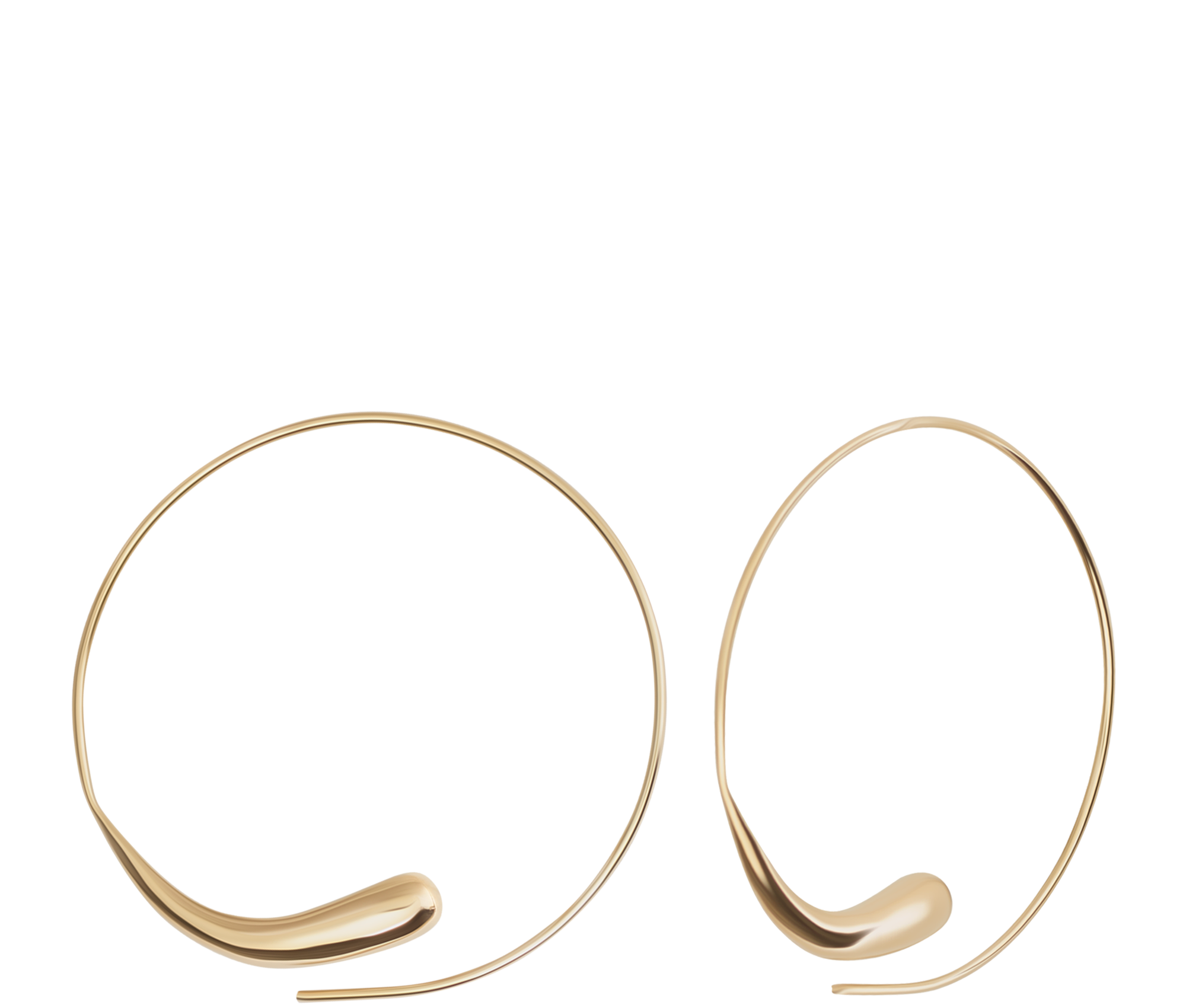 Jewelry Teardrop Threader Hoops