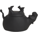 Load image into Gallery viewer, Home Decor Black Matte Upside Down Hippo Jar