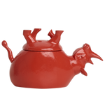 Load image into Gallery viewer, Home Decor Coral Gloss Upside Down Rhino Jar