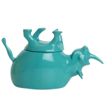 Load image into Gallery viewer, Home Decor Teal Gloss Upside Down Rhino Jar