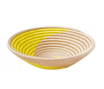 Load image into Gallery viewer, Home Decor Yellow Swirl Woven Bowl