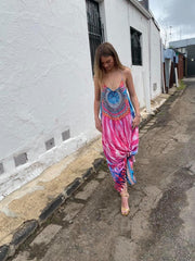 T.Back Maxi Dress Pink Passion