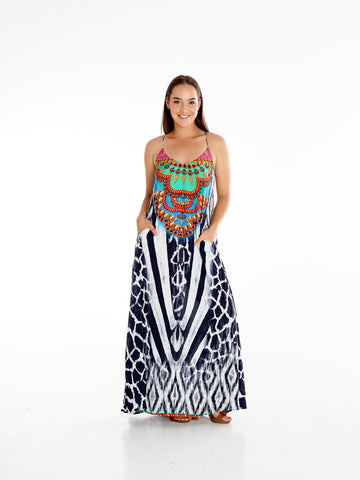 Zebra IKat T-Back Dress