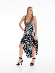 Zebra IKat High Low Frill Dress