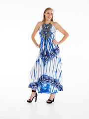 Bandni Tye Dye Necklace Dress