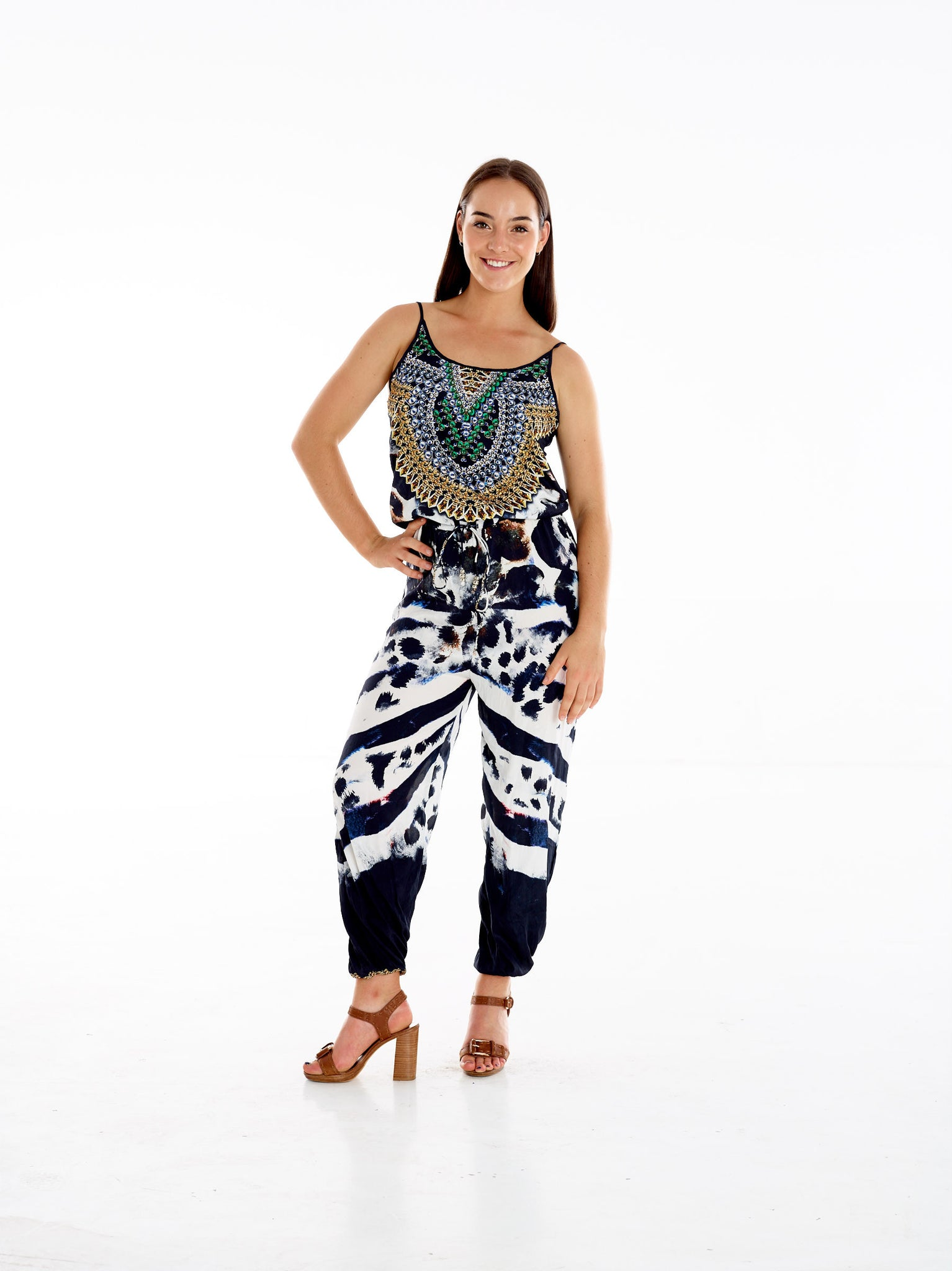 Black Spot Cheetah Jumpsuit