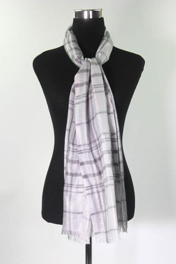 Ladies Scarf Plaid w/ Metallic Threads