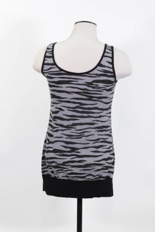 Ladies Tank Small Zebra print 03 - LIGHT BLUE 2.94 Live Now Consign