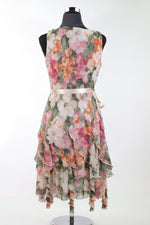 Ladies Dress 10 floral 04 - BURGUNDY 22.48 Live Now Consign
