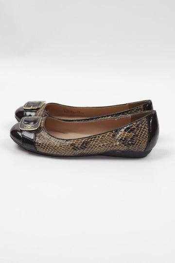 Ladies Shoes 7.5 Snake Print (dress shoes)