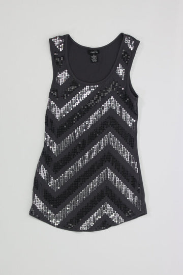 Ladies Tank Top XS w/sequence front