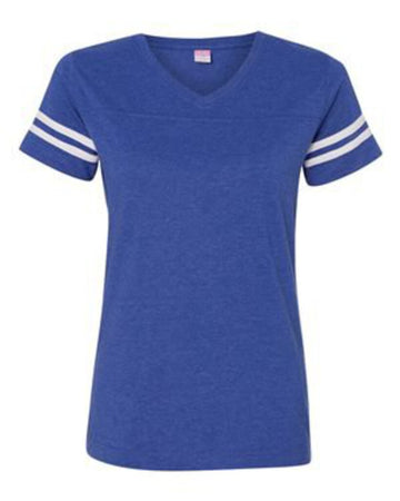 NEW BLANK Ladies SS Tee Large V-Neck Jersey