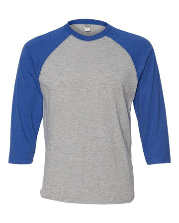 NEW BLANK Mens LS Tee 2XL Baseball 3/4
