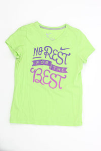 "Girls Activewear SS Tee XL ""No Rest for the Best"" 08 - TEAL WEEK 9.98 Live Now Consign"