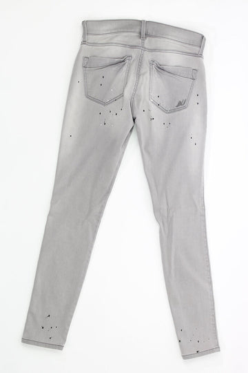 Ladies Jeans 0 Leggings Mid Rise Paint Splats