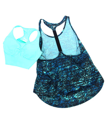 Ladies Activewear Tank Large 2 piece