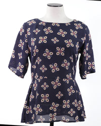 Ladies Top Small Blue Floral