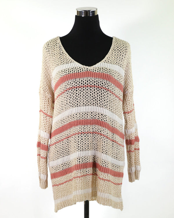 Ladies Sweater Large *See Notes 10 - ORANGE WEEK 11.99 Live Now Consign