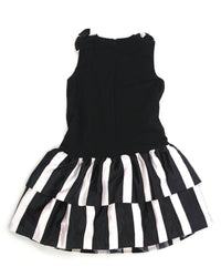 Girls Dress 12 Black & White Strips 11 - PURPLE WEEK 7.00 Live Now Consign