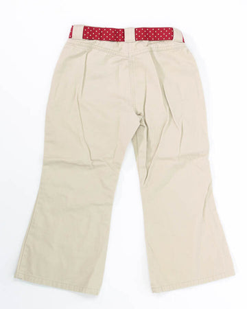 Girls Capri 6 Plus Cherry on Pocket Polka Dot Belt