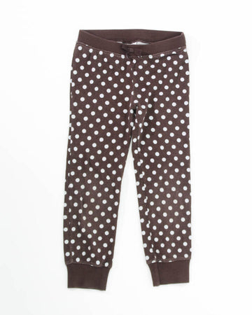 Girls Leggings 6 Cuffed Polka Dots