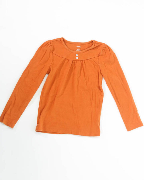 Girls Top 7 LS Button Rhinestones 12 - KELLY WEEK 2.75 Live Now Consign