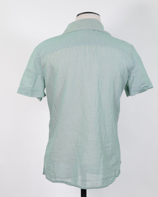 Ladies Top 0 Mint SS Button-up