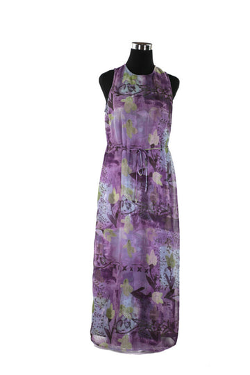 Ladies Dress L Floral Sleeveless