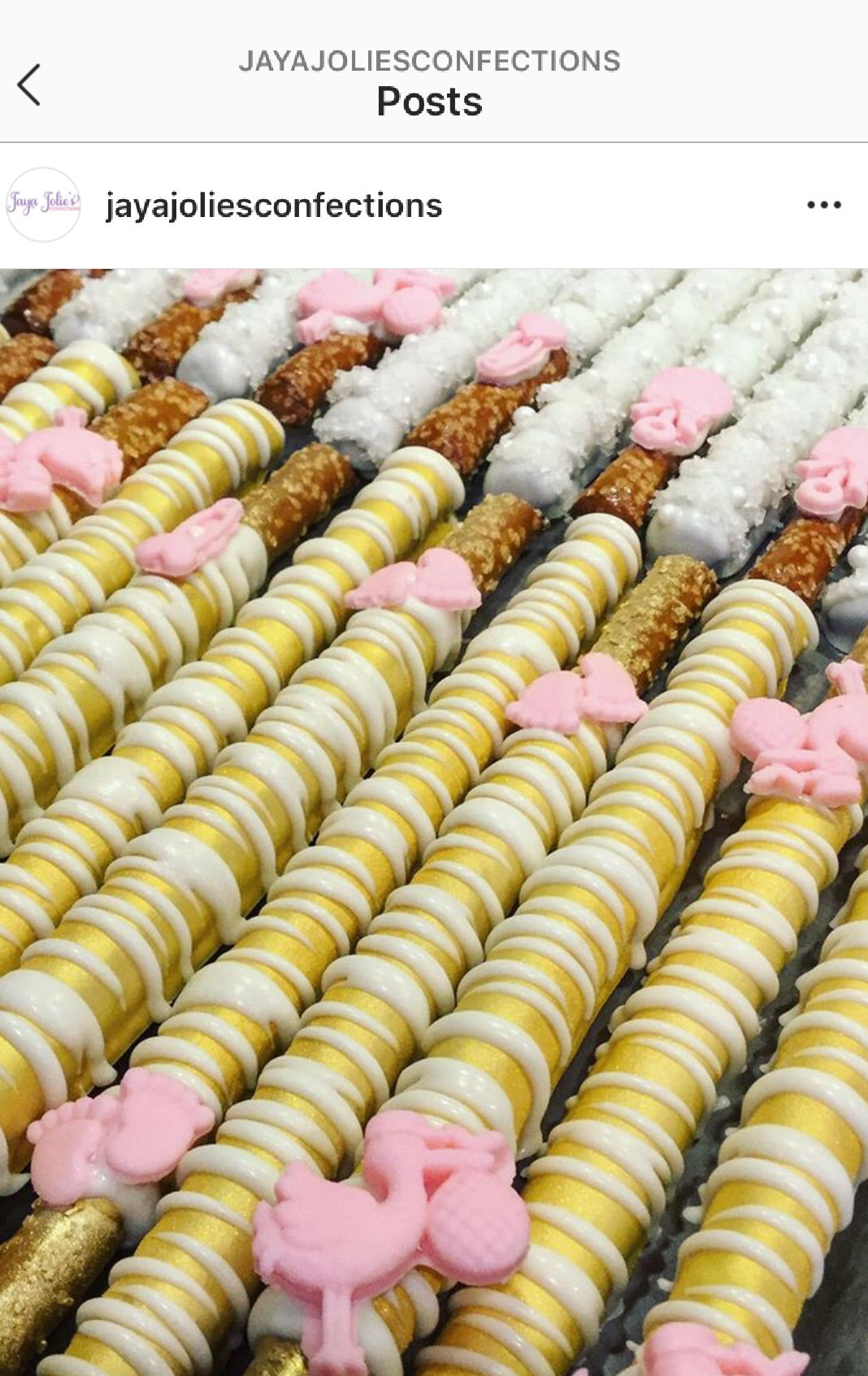 Confetti Chocolate Dipped Pretzel Rod - price per item
