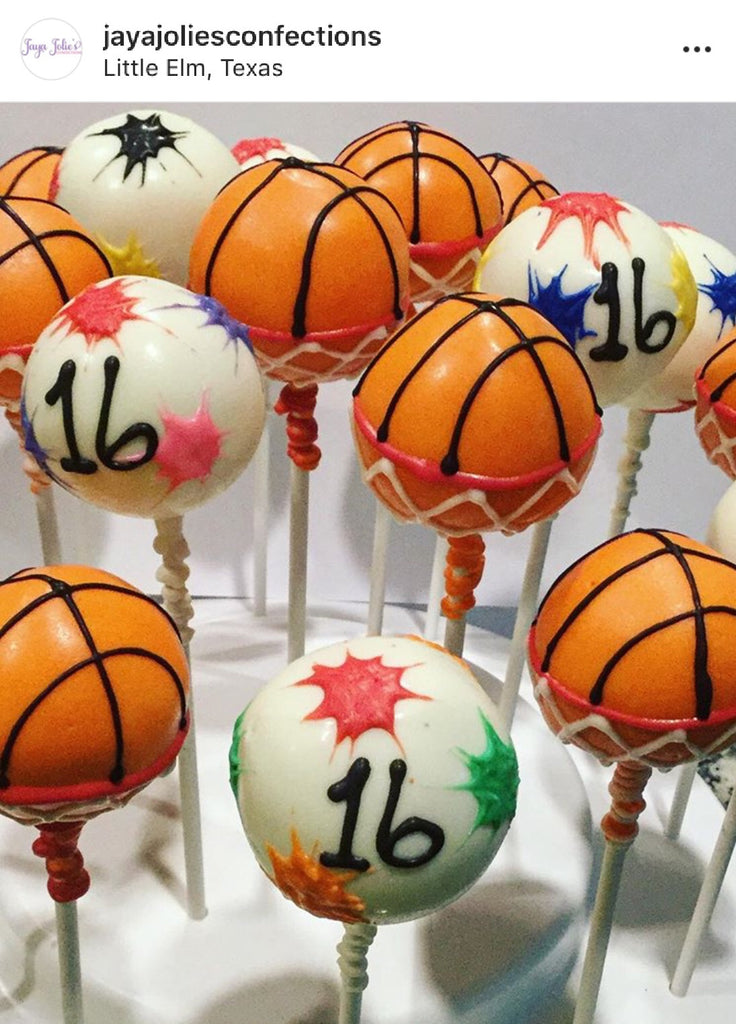 Specialty Basketball Cake Pops - price per item