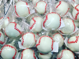 Specialty Baseball Cake Pops - price per item