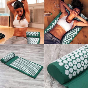 Acupressure Pack (Mat & Pillow + Free Bag)