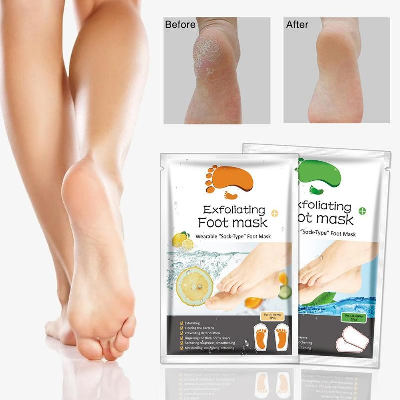 2 pairs - Exotic Exfoliating Foot Mask: Dead skin and Bad Odor Removal