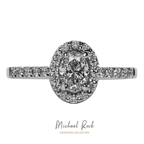 Michael Rock Signature Collection White Gold Oval