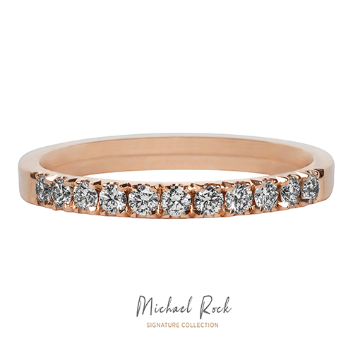 Rose Gold Diamond Wedding Rnig
