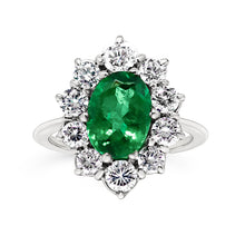Load image into Gallery viewer, Rocks | Emerald & Diamond Cluster Ring - Rocks Jewellers
