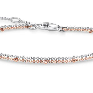 Thomas Sabo Two Tone  Double Chain Bracelet - Rocks Jewellers