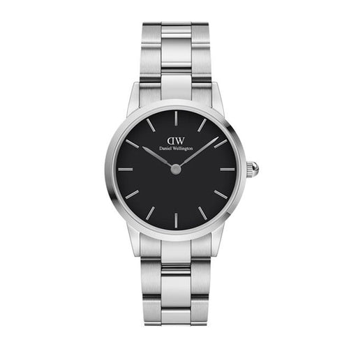 Silver & Black Iconic Link Watch - 28mm