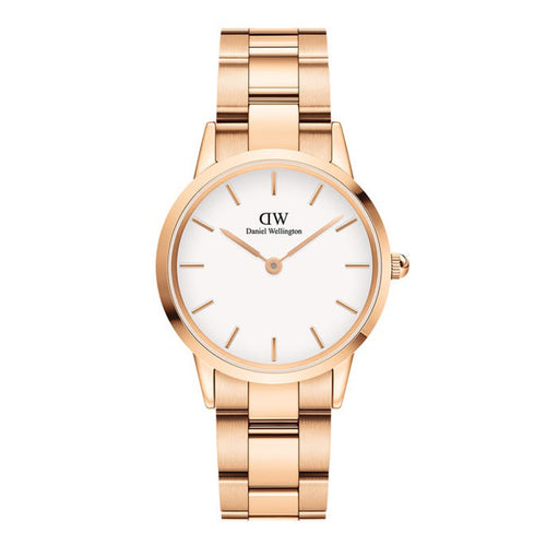Daniel Wellington Rose Gold & White Iconic Link Watch - 32mm - Rocks Jewellers