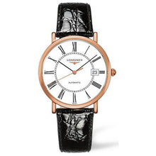 Load image into Gallery viewer, Longines Elegant Gents Automatic Rose Gold on Black Leather - Rocks Jewellers