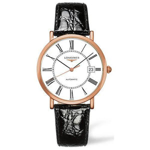 Elegant Gents Automatic Rose Gold on Black Leather